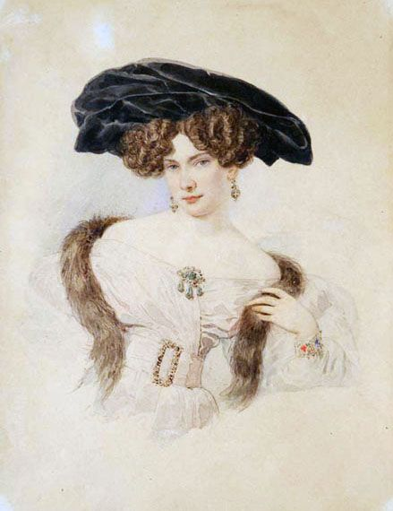 1820s Evdokia Bakunina by Alexander pavlovich Brullov