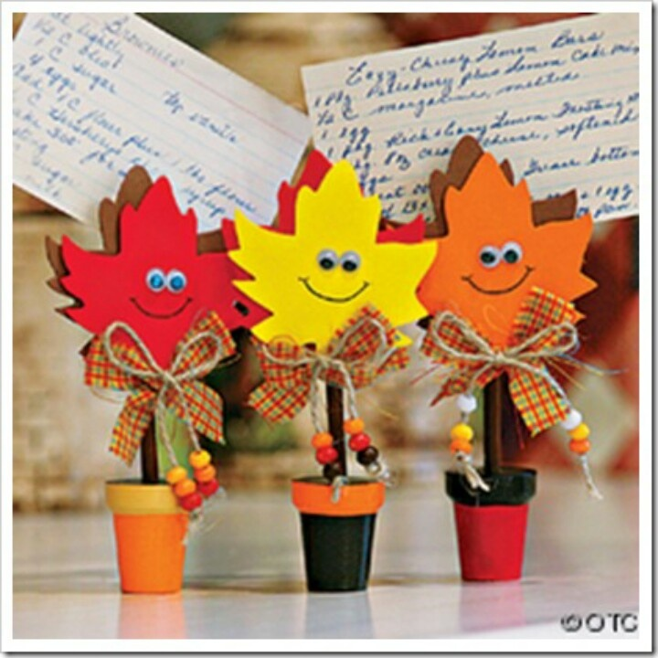 Autumn Craft Ideas Kids Part - 29: Image Detail For -Fun Kids Fall Crafts - Fall Leaves Recipe Holder Craft Kit