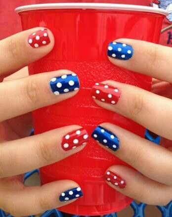 25 best ideas about american nails on pinterest 4th of for 4th of july nail art decoration flag