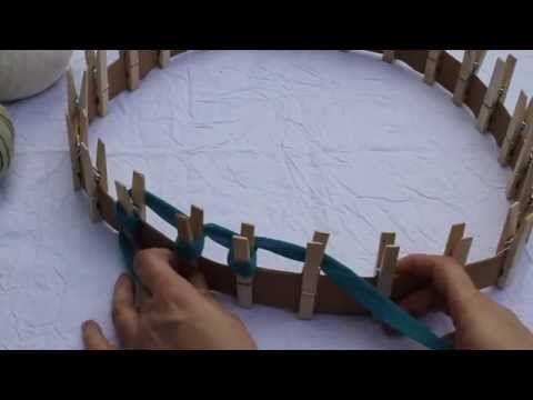 Paseando hilos: telar circular hecho con ponías y cartulina, DIY  knitting loom