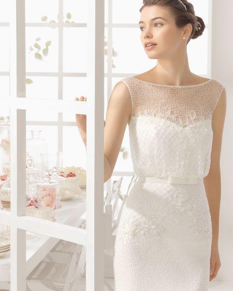 Vestidos de novia cuello barco 2016: Elegancia y sofisticación Image: 28