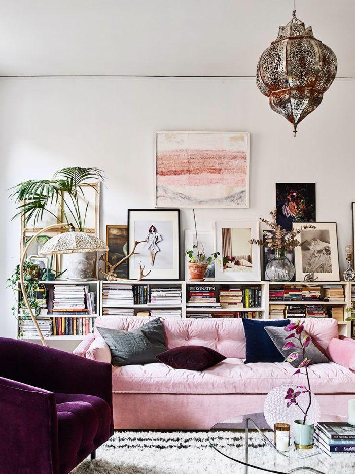 Kika in i amelia widells magiska hem livingroom samt for Design sessel scandinavia
