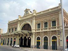 Estación modernista de Cartagena de la línea Madrid-Cartagena, inaugurada en 1862.