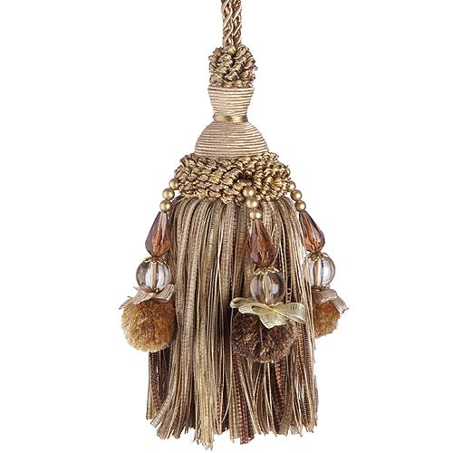 Jones Rope Key Tassel Interlude Beaded, Orange
