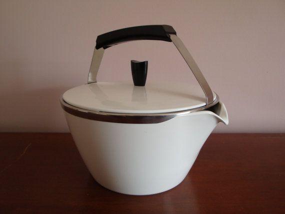 Corning Ware Cookmates White Teapot Kettle 1 3 4 Quart