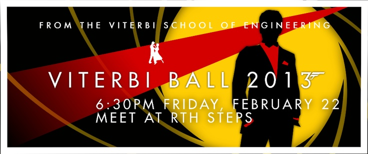 The 2013 Viterbi Ball ticket design. Theme? Bond, James Bond.