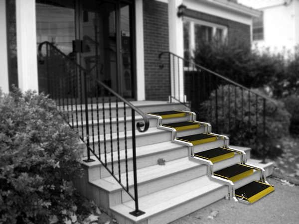 109 best accessible ramps images on pinterest wheelchair for Handicap stairs plans