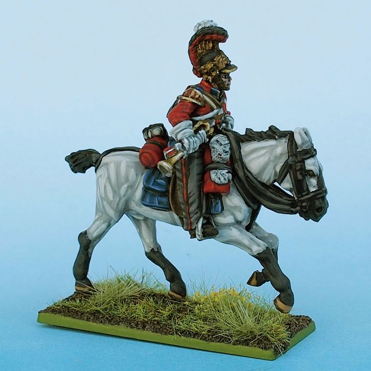 1st Lifeguard Bugler right side painted from Tobias Kirchner (Perry Miniatures)
