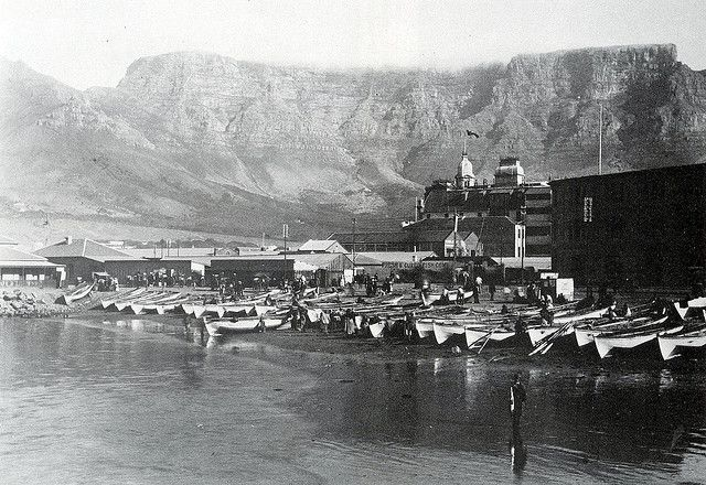 View of Table Mountain from the Fishing Harbour at Rogge Bay, early 1900s | Flickr - Photo Sharing!