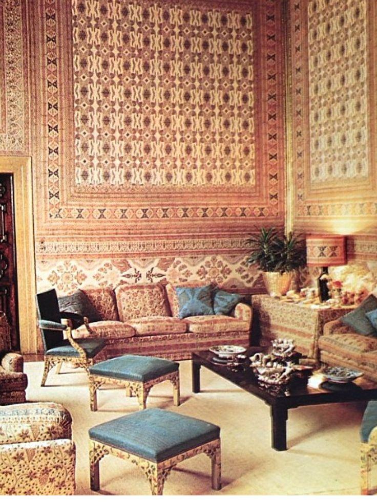 Renzo Mongiardino for Brandolini, c 1965. Moroccan InteriorsModern InteriorsDesign  InteriorsTent ...