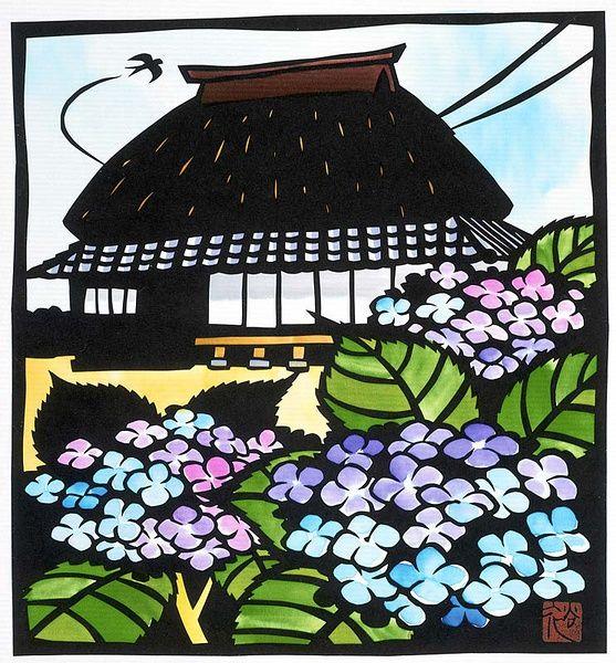 秋色波连波的相册-切り絵日本