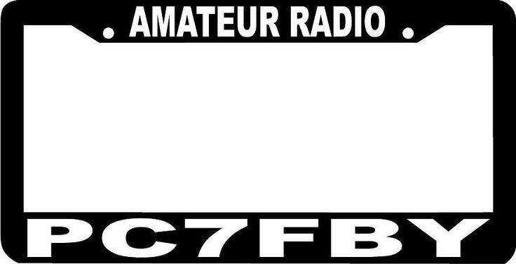 CUSTOM HAM AMATEUR RADIO CALL SIGN custom letters numbers License Plate Frame  in eBay Motors, Parts & Accessories, Car & Truck Parts, Decals/Emblems/License Frames, License Plate Frames | eBay