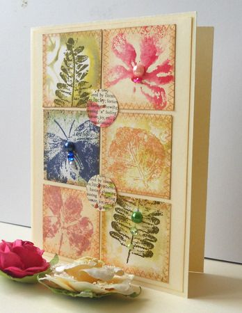 My grid, inchie and scrap projects: Watercolor Petals