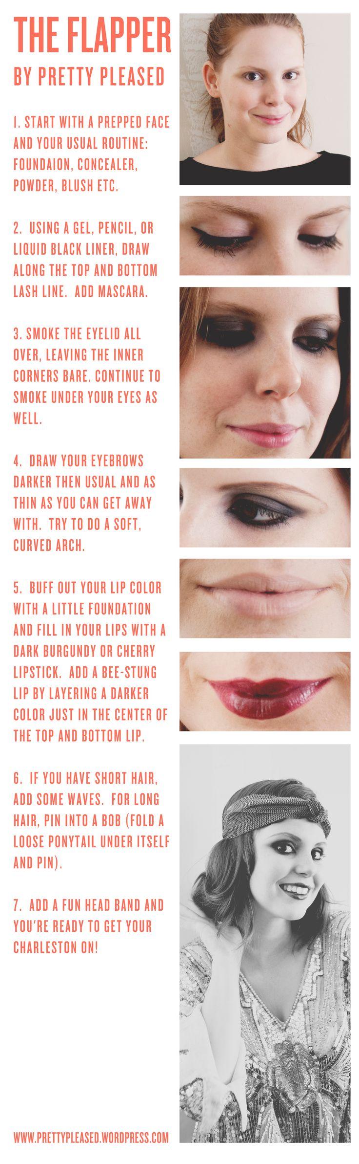 Halloween Makeup Idea: Flapper