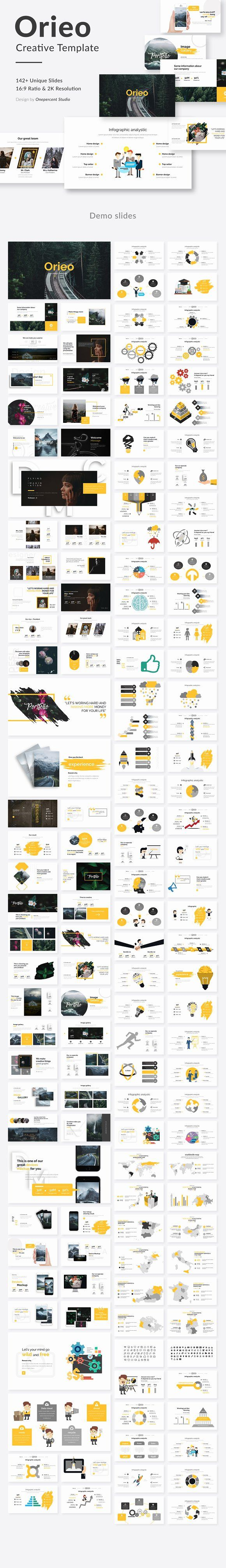 Oreo Creative Google Slide Template by One Percent Studio on @creativemarket