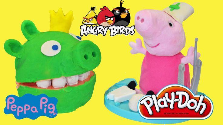 Angry Birds Play Doh Show Peppa Pig Playdough Doctor Set