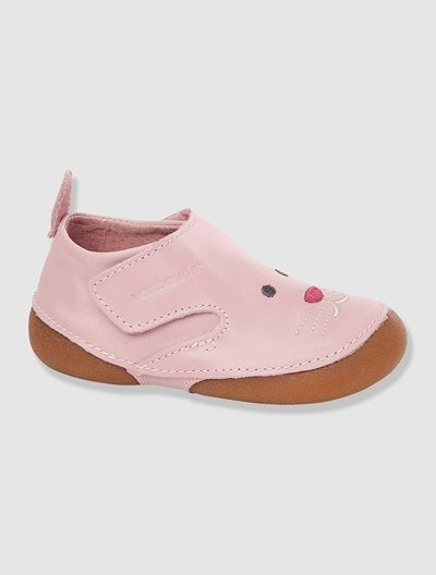 Baby's Leather Bootees PINK LIGHT SOLID WIT+PURPLE MEDIUM SOLID WITH DESIG+WHITE DARK SOLID WITH DESIGN - vertbaudet enfant