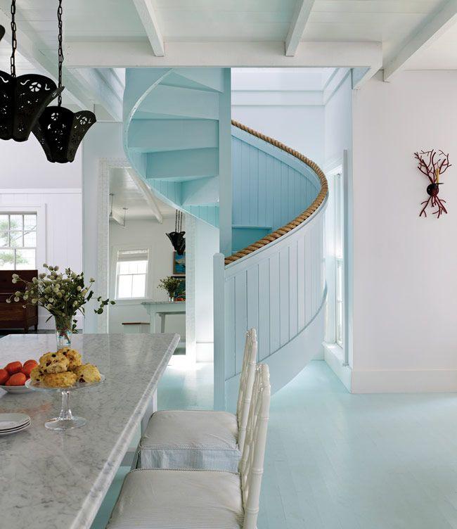 Coastal Kitchen staircase
