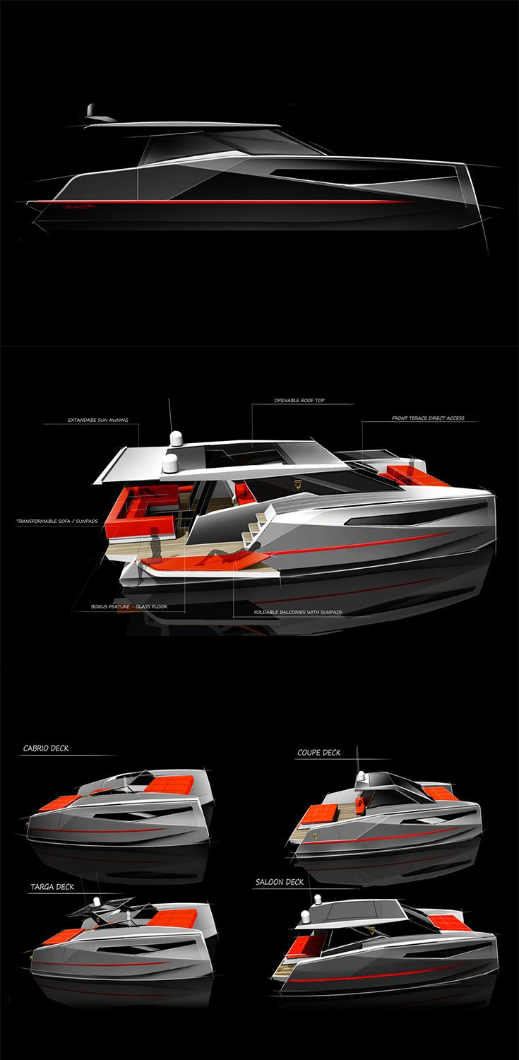 The 'Codebreaker Catamaran' has no shortage of decks, it's incredibly transformative too, with expanding floors and opening roofs, plus there's a 'bonus glass floor' included in the design... READ MORE at Yanko Design !