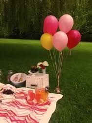 Image result for picnic with balloons
