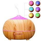#3: Arova 400ml Aromatherapy Essential Oil Diffuser  Portable Ultrasonic Diffuser Cool Mist Air Humidifier  Timer Setting Color Changing LED Lights Auto Shut-off for Yoga Spa Office Home