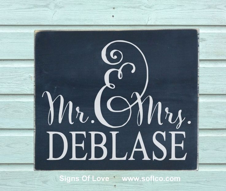 Last Name Wedding Themes: Rustic Mr Mrs Wood Wedding Sign Personalized Last Name