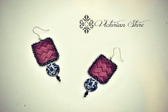 Beautiful leather earrings