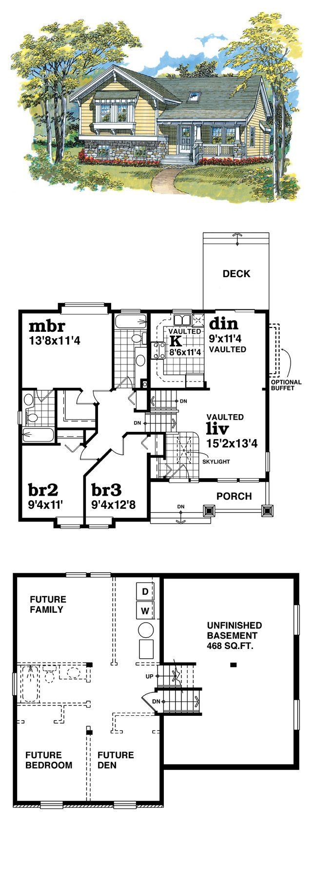 16 best split level house plans images on pinterest cool house cool house plan id chp 20977 total living area 1108 sq jameslax Choice Image
