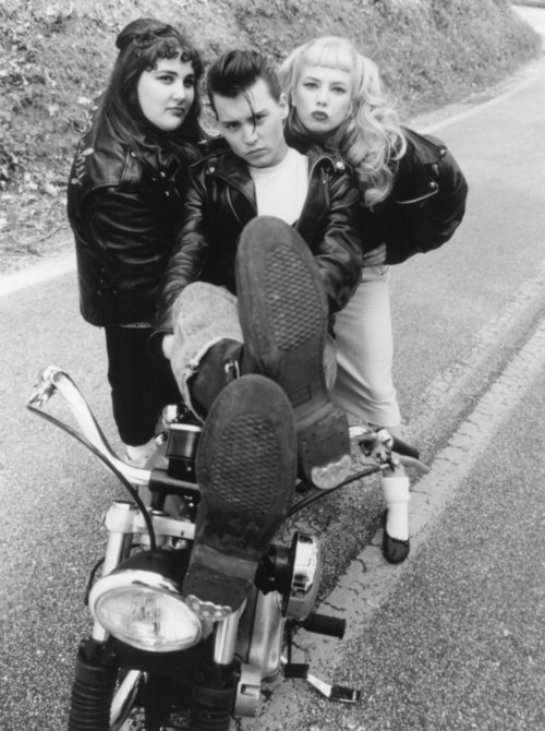 """Johnny Depp, Ricki Lake and Amy Locane from """"Cry baby"""""""