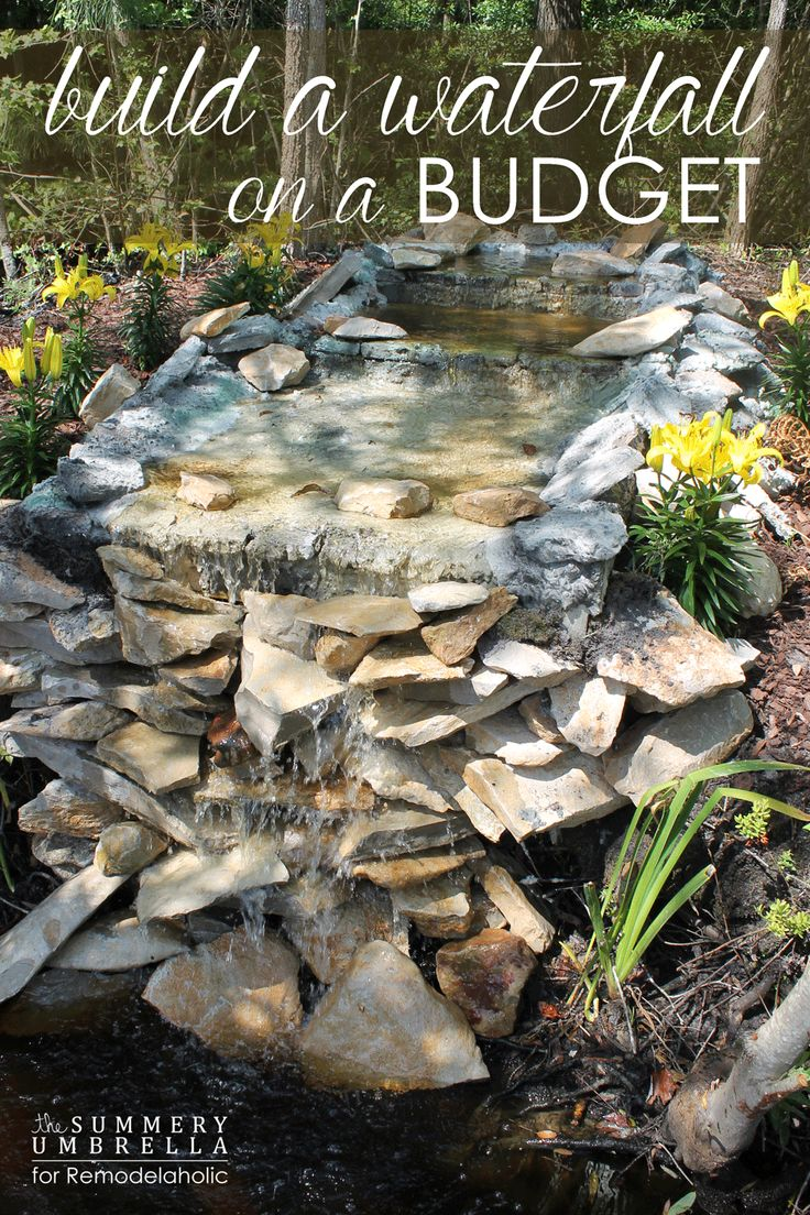 how to build a waterfall on a budget that you will love pond ideasbackyard - Diy Garden Pond Ideas