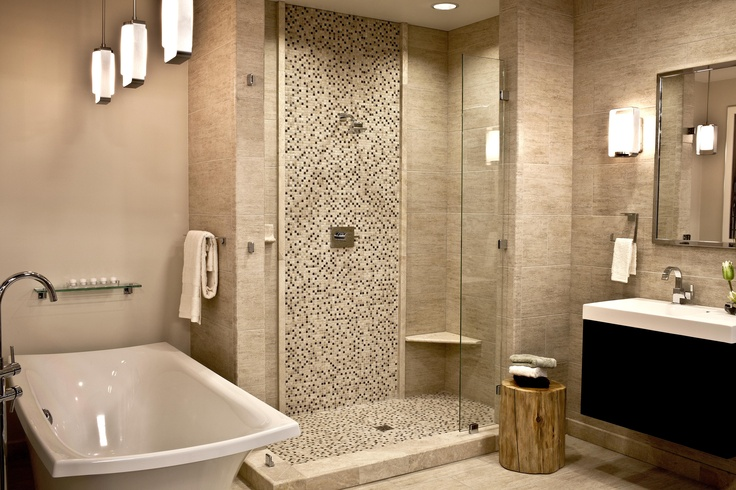 want accent tile strip in shower, just not this wide and not such bulky trim