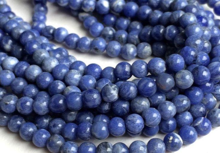 60% OFF Summer Sale AAA Quality Sodalite Natural 6 mm Smooth Round beads Strand length 13.5 inches by colorvilla on Etsy