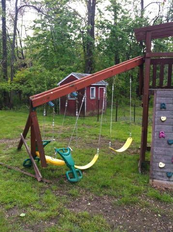 The Top 4 Things You Absolutely Must Know Before Buying a Swing Set  There aren't many trustworthy sources to inform you on swing set options and help you figure out which is the best for you and why.  Let's start simple.  I tell everyone that there are 4 things you should know when buying a playset.  Here they are, all with explanations.  Click on the picture to read the article.