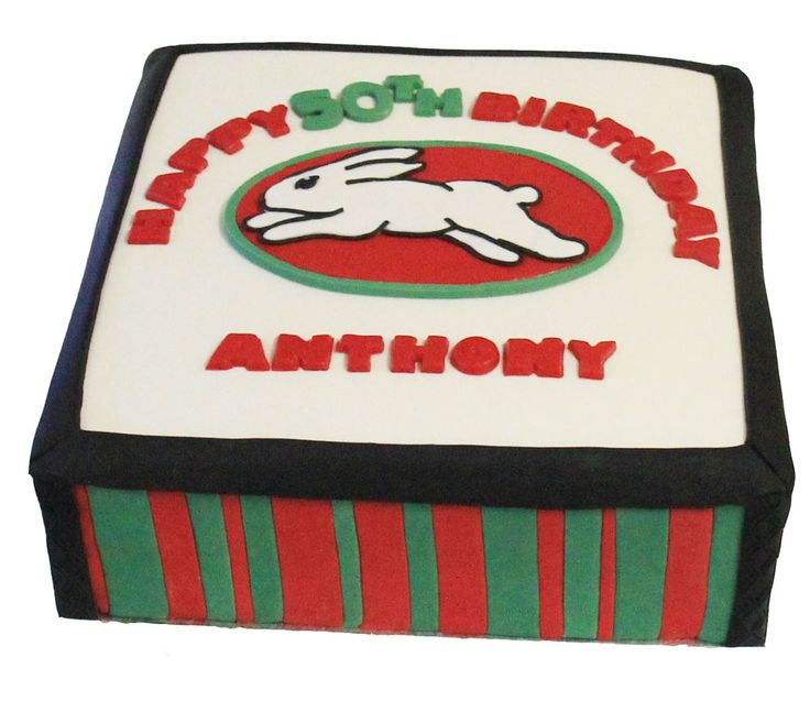 South Sydney Rabbitoh's Logo Cake Like us at www.facebook.com/melianndesigns