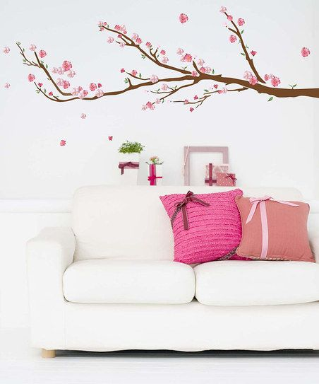 Cherry Blossom Wall Decal Set; Cute for a little girl's room. It would look great in an Asian inspired room. M's crib bedding had Cherry Blossoms on it - so sweet.