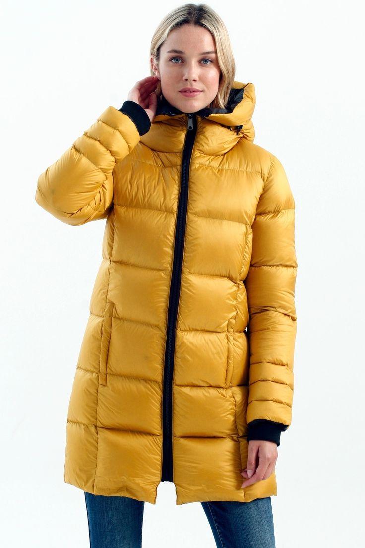 Real Down Long Puffer Coat [ 1104 x 736 Pixel ]
