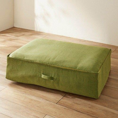 おしゃれな収納袋で、布団をソファーに。