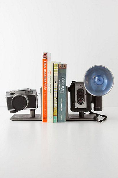 Vintage Camera Bookends - Anthropologie.comVintage Wardrobe, Vintage Cameras, Cameras Inspiration, Book Storage, Bookends Anthropologie Com, Cameras Bookends, Cameras Shops, Bookish Fun, Decor Diy