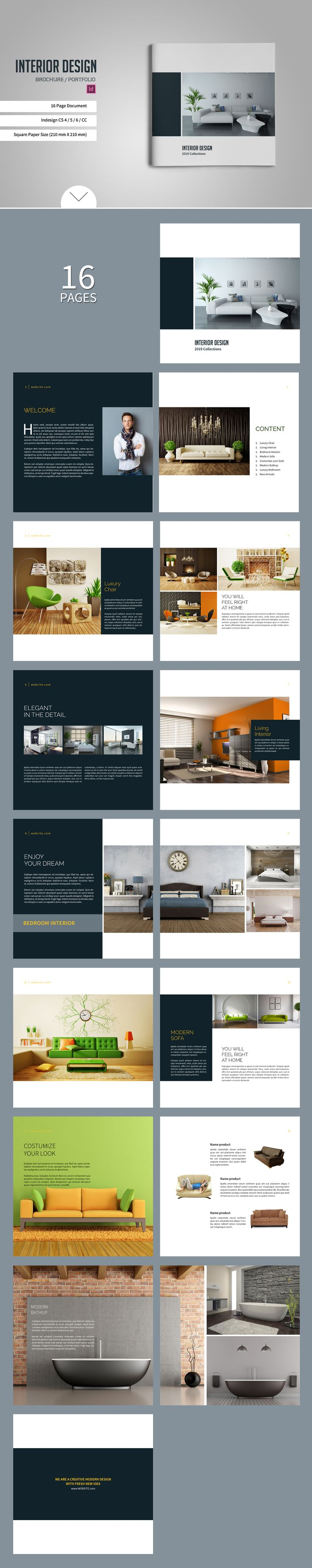 Square Brochure Catalogs By Tujuhbenua On