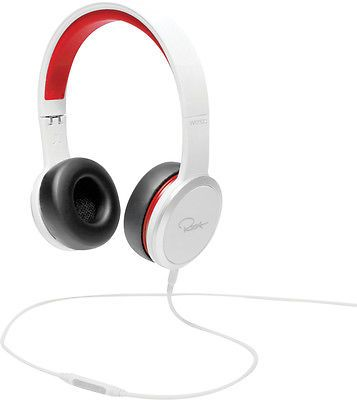 Headsets and Earpieces: *Blowout* Wesc Chambers By Rza Street Over The Ear Cup Headphones White/Red BUY IT NOW ONLY: $34.99