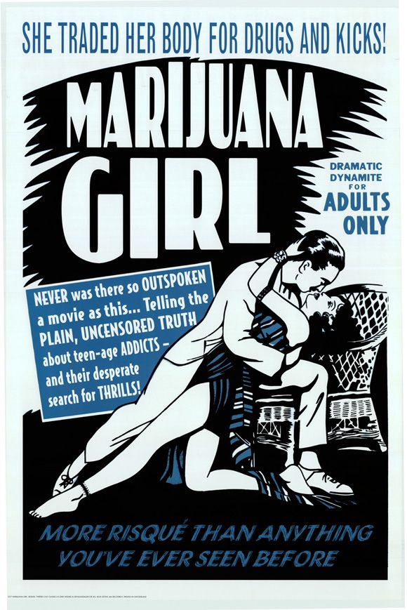 marijuana girl - vintage propoganda