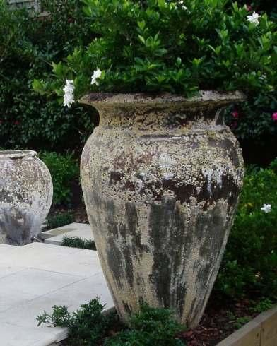 Large Urn In The Garden.