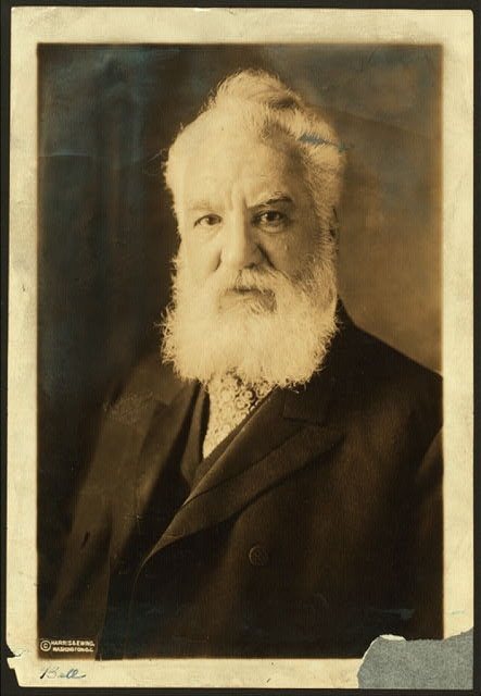 """Alexander Graham Bell: originally wanted people to answer the telephone with """"ahoy!"""" instead of """"hello!""""..."""