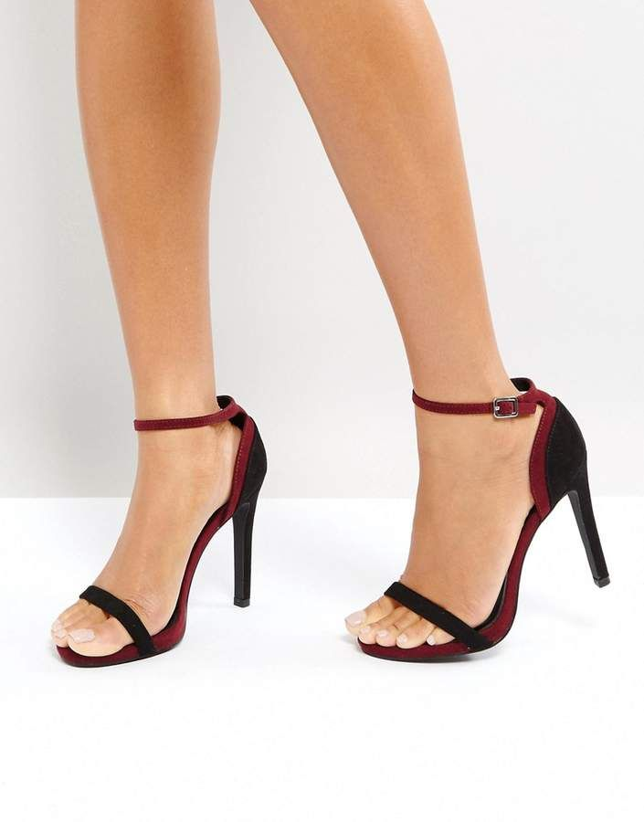 59614e1b29c New Look Two Part Contrast Heeled Sandal