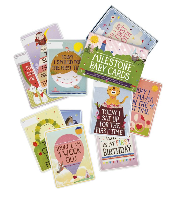 Packshot of MILESTONE Baby Cards. Set of 30 cards to capture your baby's first year in weeks, months and big events. www.milestonecards.com