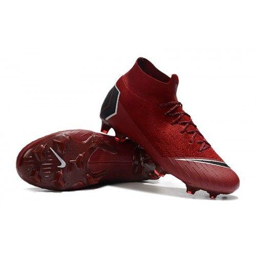 b046e844fe Botas De Futbol Nike Mercurial Superfly VI 360 Elite FG Vino Rojo Negro  Blanco visit us