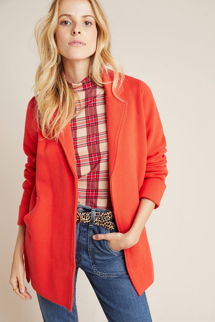 Coraline Blazer By Skies Are Blue In Orange Size M Women S Jackets At Anthropologie How To Be Trendy