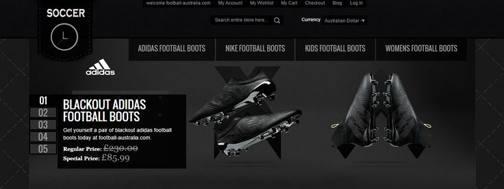 http://www.football-australia.com/ Order online today cheap football boots from football-australia.com. Get a huge discount on Nike football boots, adidas football boots and many more. Free shipping