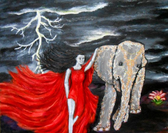 Original Painting Beyound The Chaos Print by PaintingsByAnnette