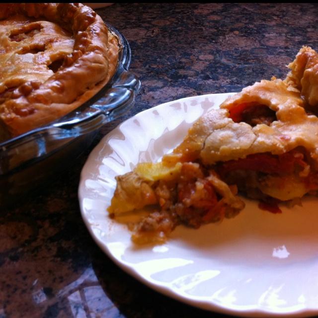 Meat ball pie